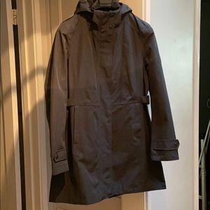 Like new Kirkland dark gray rain coat size medium